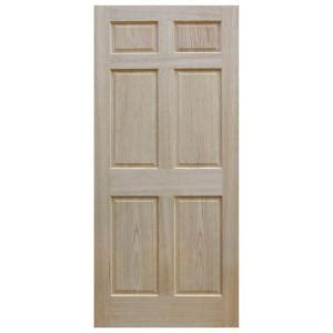 oak interior doors home depot evermark 32 in x 80 in unfinished 6 panel solid core red