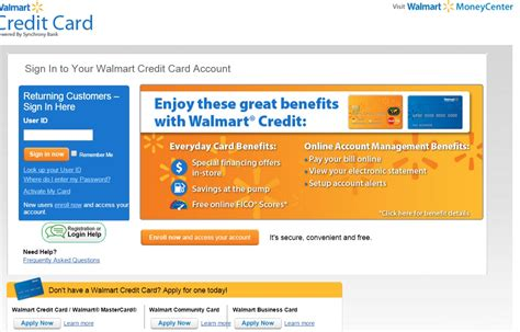 credit card make a payment a walmart credit card payment bill pay