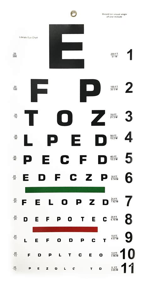 printable pocket eye chart eye chart printable snellen eye chart ratelco com