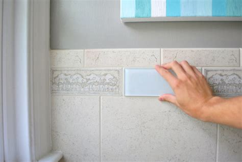 how to remove tile paint from bathroom tiles painting glass tile removing an old shower tile border