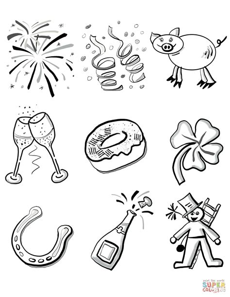 2016 new years eve coloring pages new years confetti crayolacom sketch coloring page