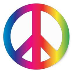colors that represent peace peace sign tie dye groovy colors stickers zazzle