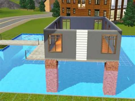 how to build a pool house sims3 build a house over swimming pool tutorial youtube