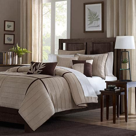 madison park dune comforter set queen beige 7198121 hsn
