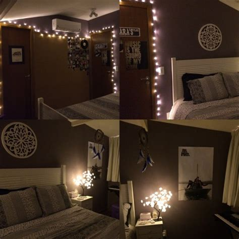 fairy lights bedroom tumblr diy blue room decor tumblr