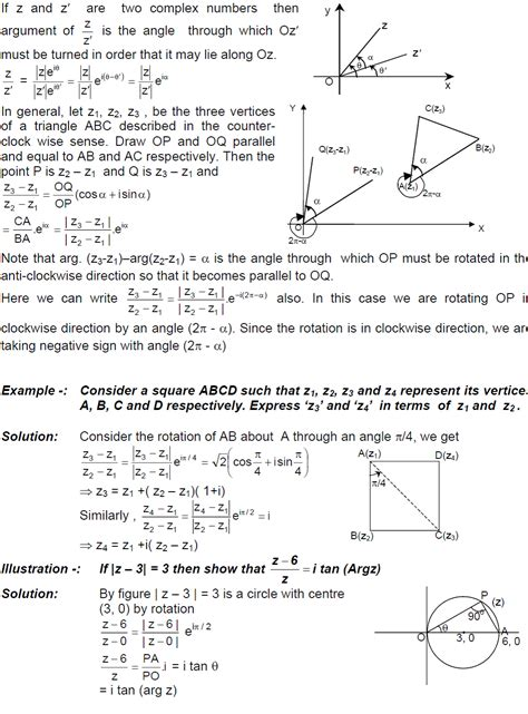 S Day Notes Class 11 Cbse Class 11 Maths Notes Complex Number Concept Of