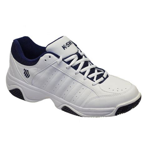 k swiss mens grancourt iii tennis shoes white navy