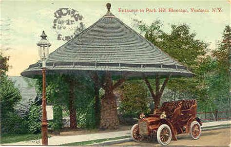 park hill elevator yonkers new york post card vintage 1909