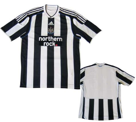 newcastle united unveils new home shirt design for 09 10
