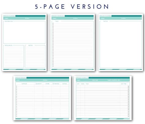 printable home planner pages printable project planner the homes i have made
