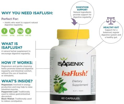 Isagenix Detox Ingredients by Isagenix Isaflush Buy Isaflush Now At Wholesale Prices