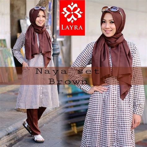 Agoest Pant Brown naya brown baju muslim gamis modern