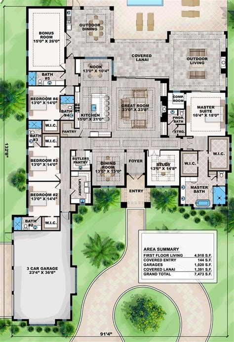 coastal style house plan number    bed  bath