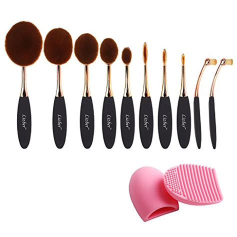 Oval Brush Supersoft pro 10 pcs new fashion makeup brush set soft oval toothbrush foundation concealer blush