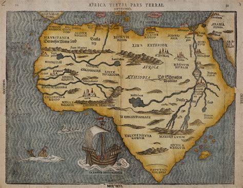 africa map vintage africa tertia pars terrae b 252 nting 1581