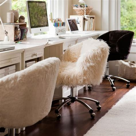 fuzzy white desk chair fair 50 fuzzy office chair decorating inspiration of
