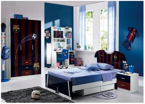 barcelona bedroom cool boys bedroom decoration with fc barcelona theme
