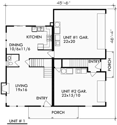 corner lot duplex plans duplex house plans corner lot duplex house plans d 416