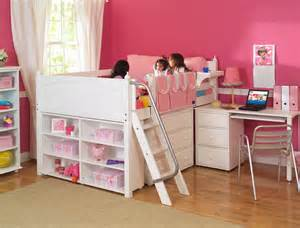 little girls loft beds s storage bed with desk by maxtrix kids white 606