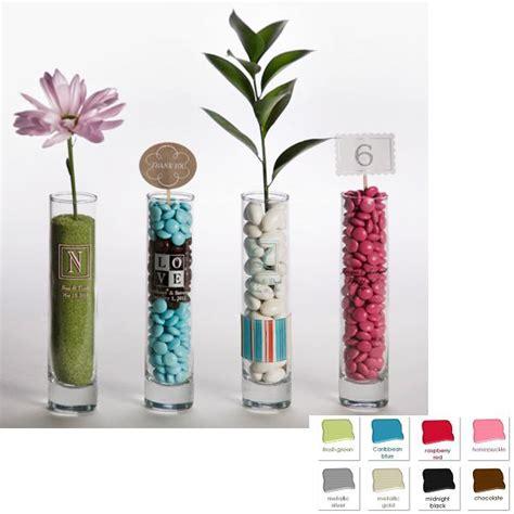 Personalized Bud Vase by Set Of 24 Custom Printed Glass Bud Vase Wedding Favors