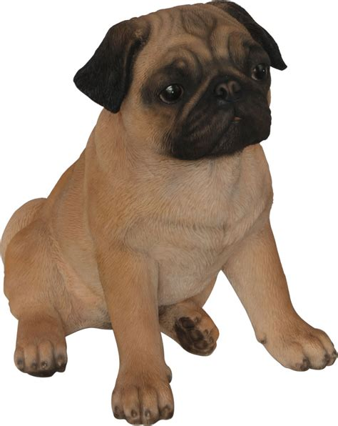 pug garden ornaments real pug resin garden ornament 163 29 24 garden4less uk shop