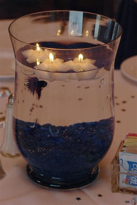 wedding centerpieces with fish beta fish centerpieces wedding inpiration