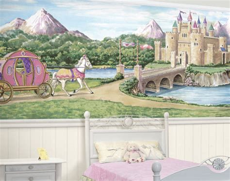 castle wall murals princess castle bliss mural