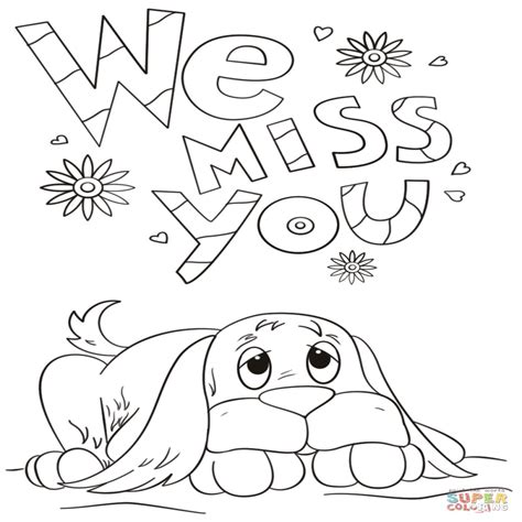 printable coloring pages miss you i miss you sheets coloring pages