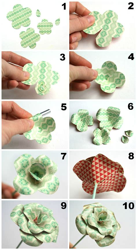 How To Make Paper Roses Step By Step - best photos of paper flower diy paper flower