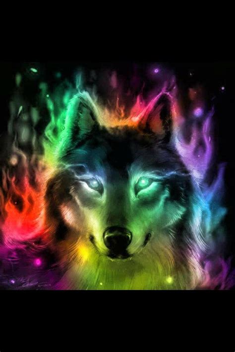wallpapers of colorful animals colorful wolf liccantrophy pinterest beautiful god