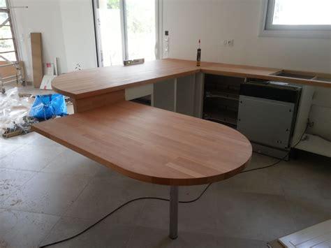 Plan De Travail Arrondi Pour Bar 3132 by Plan De Travail Table Cuisine Free Table De Travail