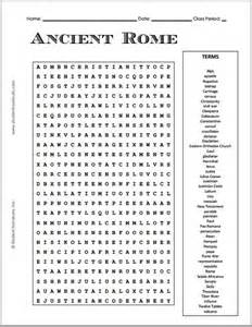 Word Sleuth Template by Free Printable Ancient Rome Word Search Puzzle Grades 7