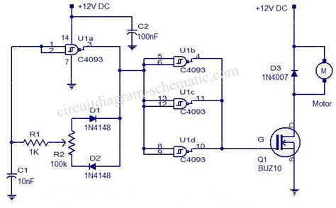 Esc Diy 10a Brushed Esc Electric Speed Controller 3 pwm motor speed using c4093 circuit diagram world