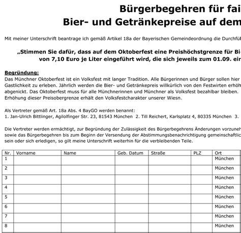 Word Vorlage Unterschriftenliste B 252 Rgerbegehren F 252 R Faire Bier Und Getr 228 Nkepreise Freeware De