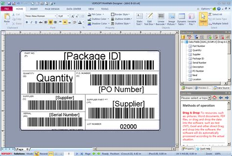 barcode label template free avery label barcode label templates