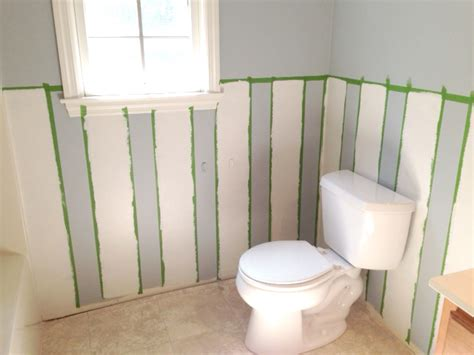 diy bathroom walls easy diy wall stripes in the bathroom living rich on