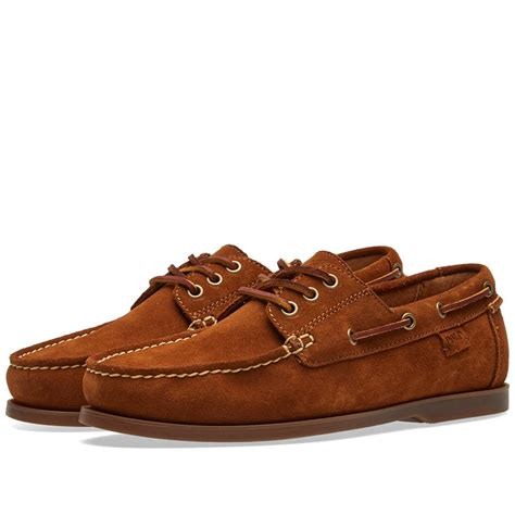 polo shirt boat shoes lyst polo ralph lauren boat shoe in brown for men