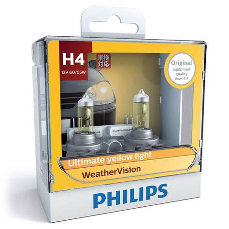 Lu Halogen H4 Weather Vision Philips weathervision 할로겐 12342wvs2 philips