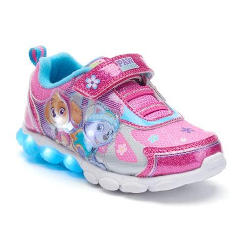 kohls light up shoes paw patrol skye everest girls light up shoes