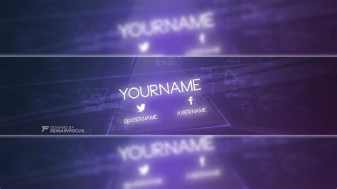 Glow Themed Youtube Banner Template Psd 2017 Youtube Banner Template For Photoshop Youtube Banner Template 2017