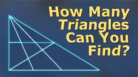 How Many Search How Many Triangles Can You Find Puzzle Trick Doovi