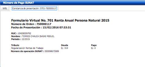 asesoria declaracion renta anual 2012 4ta categoria sunat renta anual 2015 personal natural noticiero contable