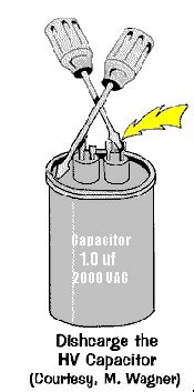 microwave oven capacitor test how to test the high voltage capacitor used in microwave ovens