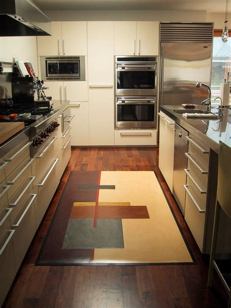 Rustic Kitchen Rugs Rustic Rugs Modern Kitchen Los Angeles By Crogan Inlay Floors