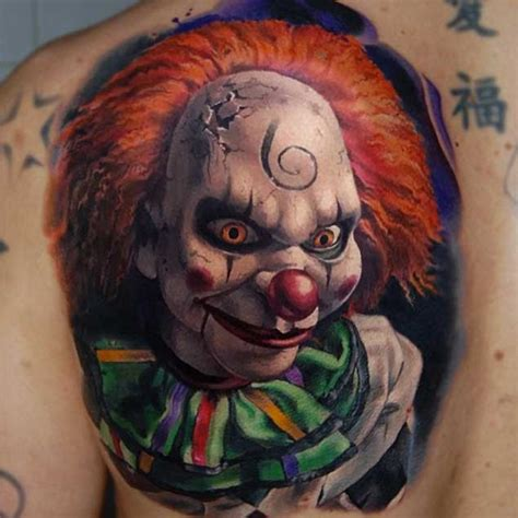 20 horrifying clown tattoos that will haunt your dreams