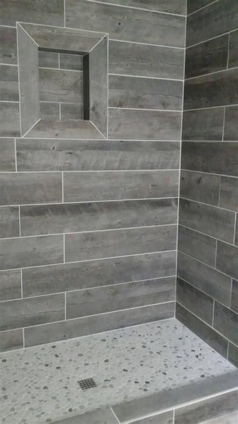 tiles    wood wood tile shower gray shower