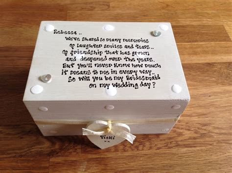 shabby personalised chic gift will you be my bridesmaid