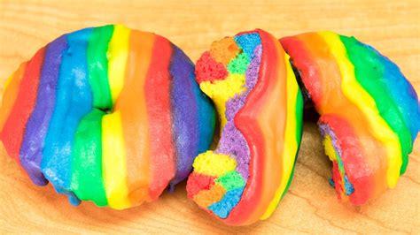 how to make rainbow donuts rainbow doughnuts from