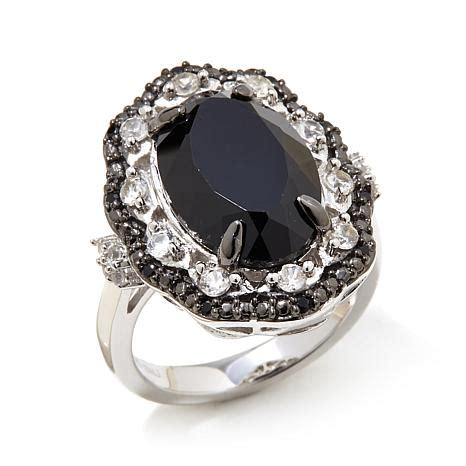 colleen 6 68ctw black spinel and white zircon
