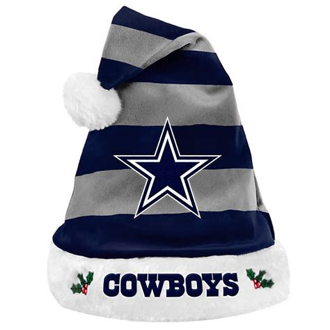 santa cowboy hat dallas cowboys striped santa hat other